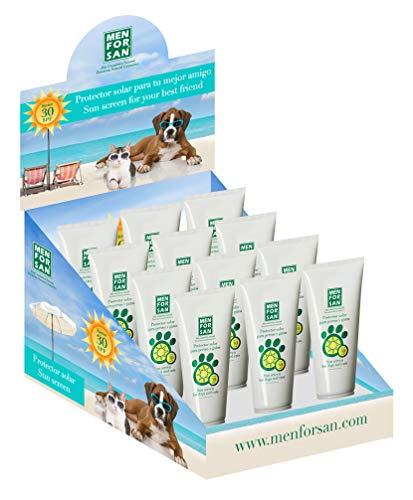 MENFORSAN Expositor Protector Solar Factor 30 Perros Y Gatos - 12 unid