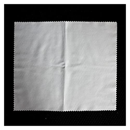 AQCRS 12 Piezas de Lente Limpieza de Tela de Tela de Microfibra Profesional Lente Lente de Sol Lente Cámara Lente Móvil Portátil Portátil (Color : White)