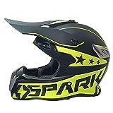 Casco De Motocross Unisexo Casco De Moto Todoterreno con Guantes Gafas Máscara para ATV MX MTB Dirt Bikes Mountain Pit Bike,M