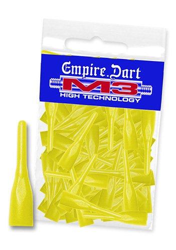 Empire Dart Softdartspitzen, M3, kurz, Neongelb, 100 Stück, 29162