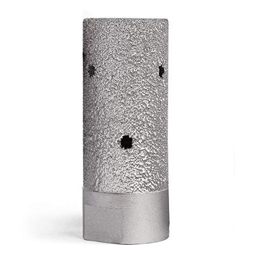 1' Diamond Drum Wheel Vacuum Brazed Grinding Sanding Wheel with 5/8-11 Thread for Stone Concrete Granite Marble Sink Basin Hole Edge