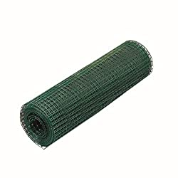 maschendrahtzaun Drahtgitter Stahl mit PVC-Beschichtung Gartenzaun Hundezaun Katzenzaun H/ühnerzaun 10 x 1,5 m 25 x 25 mm Quadrat Drahtgeflecht gr/ün Verschiedene Gr/ö/ßen und Farben