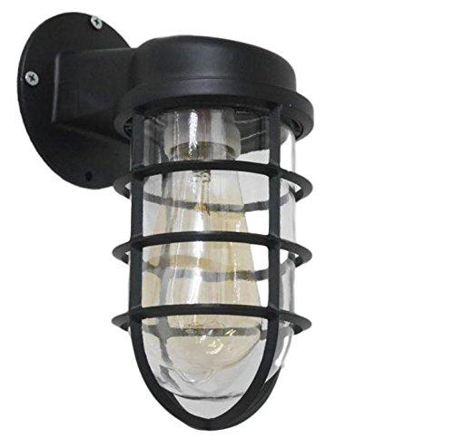 アンティーク マリンランプ ブラケットライト 船舶 工業 照明ヴィンテージ (黒)