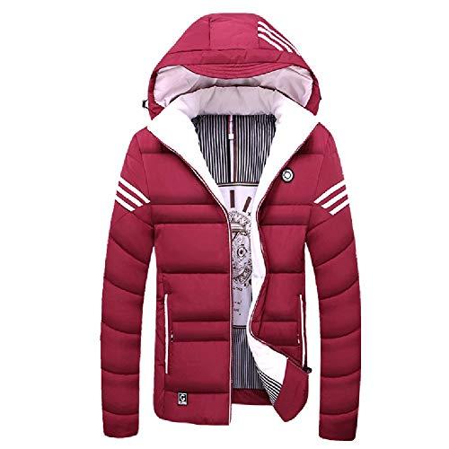 Mode Heren Winter Sneeuwjack Dikker Katoen Jas Puffer Jas met Verwijderbare Hood