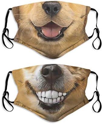 Funny Animal Dog Face Mask with Filter Pocket Washable Balaclava Comfortable Reusable Adjustable product image