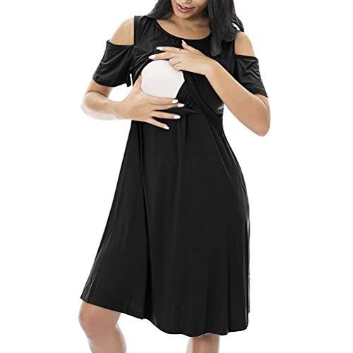 NA Schwangerschafts-Schlafanzug, ärmellos, Baumwolle, Schlafanzug, kurzärmelig XX-Large schwarz