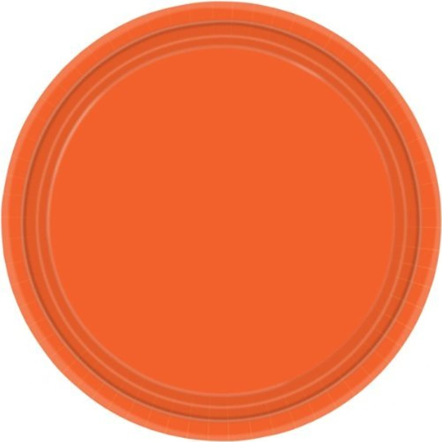 orange Peel Paper Plates, pack of 8, 22.8 cms by Party Bags 2 Go