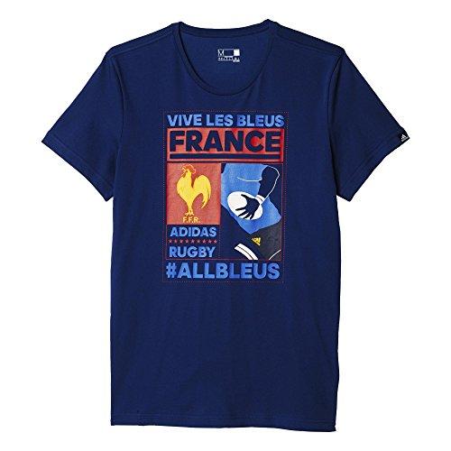 adidas Herren T-Shirt FR Poster, Blau, L