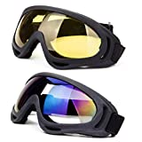 Best Airsoft Goggles - DODOING Ski Goggles, 2-Pack Snowboard Goggles with UV Review