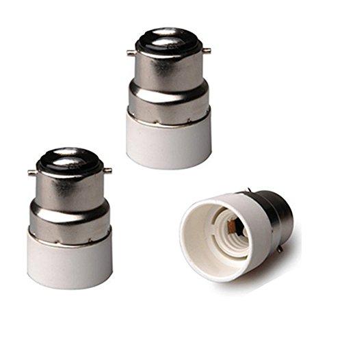 FINELED Lampensockel-Adapter, B22 auf E14, BC-Schraubsockel, B22 auf E14, ES Edison-Schraube, Lampensockel, Konverter, Verlängerung, Adapter, Halterung.