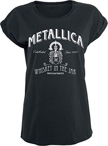Metallica Whiskey In The Jar Frauen T-Shirt schwarz S 100% Baumwolle Band-Merch, Bands