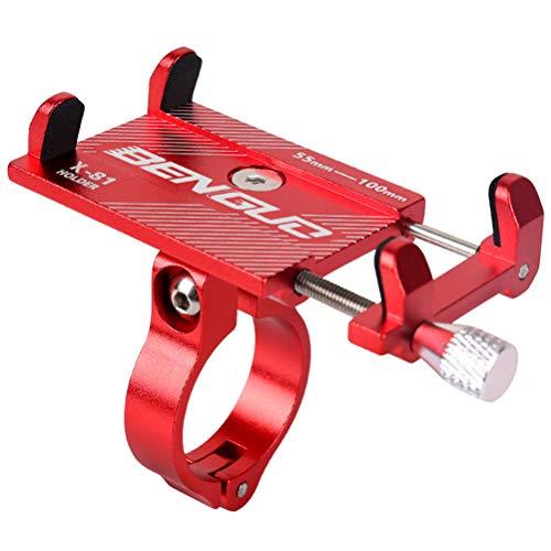 Handyhalterung Fahrrad Aluminium Handyhalter fürs Fahrrad Motorrad mit 360 Drehen, Anti-Shake Fahrrad Handy Halterung Universal für Smartphone