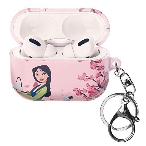 Mulan AirPods Pro Case mit Schlüsselring, Schlüsselanhänger, Schlüsselhalter, Hart-PC-Gehäuse, Lochabdeckung, [LED vorne, sichtbar] Zubehör, kompatibel mit Apple Airpods Pro – Mulan Teekanne