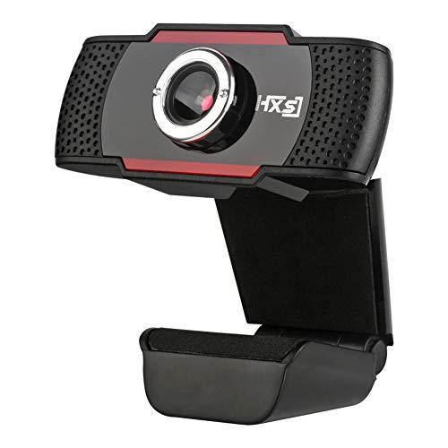 Cámara web USB 480p, micrófono integrado con reducción de ruido; webcam para PC, portátil, Android TV. Perfecta para Skype