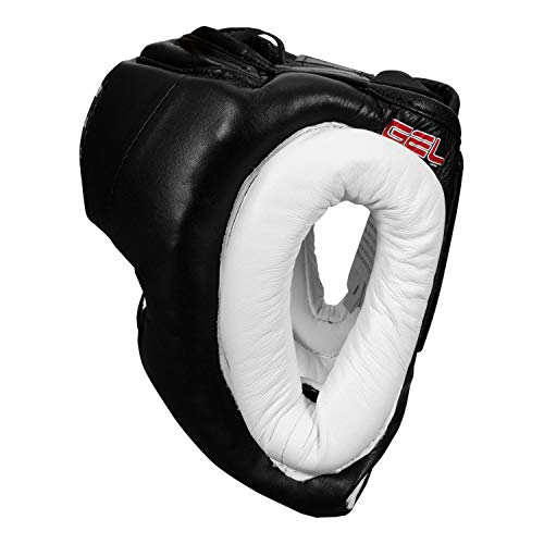 TITLE Boxing TITLE Gel World Traditional Training Headgear, Black, Regular