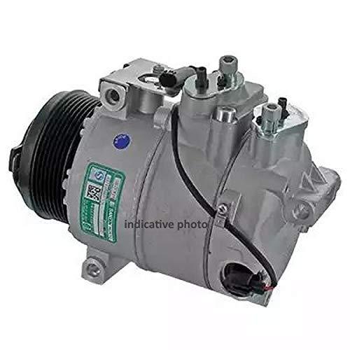 Compresor climatizador aire acondicionado 9145374927766 EcommerceParts para fabricante: Denso, con polea correa Poly-V, ID compresor: 10PA15L, aceite del compresor: PAG 46, ID de embrague: