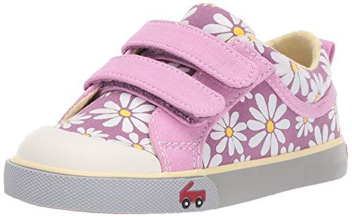 See Kai Run Girl's Robyne Sneaker, Purple Daisy, 10 M US Little Kid