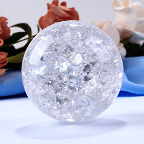 tytlsd Christmas Crystal Ball Ice Crackle Feng Shui Glass Magic Ball, Delicate Globe Sphere Crafts, for Gifts Home Decoration (80Cm) Without Base