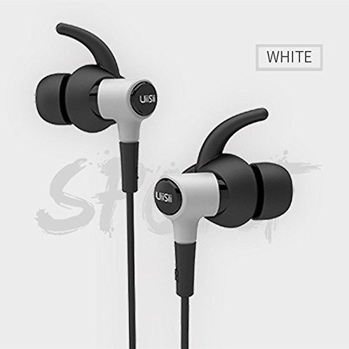 UiiSii Hi-710 in Ear Headphones with Mic Volume Control Stereo Earbuds for Smartphones (Black)