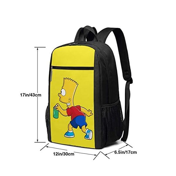 419DWppux0L. SS600  - Qfunny Girl & Acirc; & Euro; s Simpson Play Mochilas de impresión Completa duraderas súper Pesadas y Pesadas para escuelas