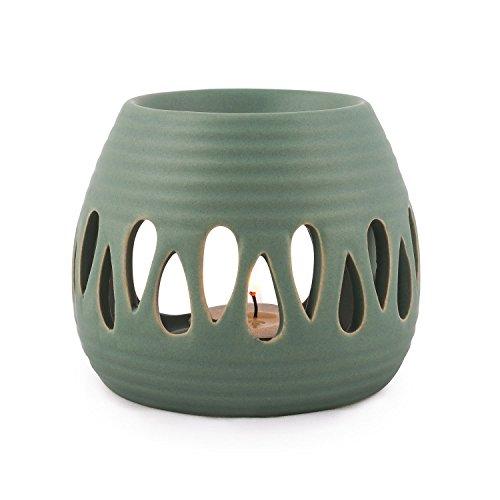 pajoma Keramik Duftlampe \'\'Simple\'\' in grün, Höhe 8 cm