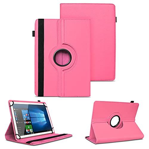 NAUC Universal Tasche Schutz Hülle Tablet Schutzhülle Tab Hülle Cover Bag Etui 10 Zoll, Farben:Pink, Tablet Modell für:Odys Score Plus 3G