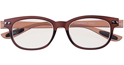 メイガン おしゃれ 老眼鏡 ブルーライトカット ブラウン 度数+2.00 (colorfulook 軽量 形状記憶 フレーム) 5562-20