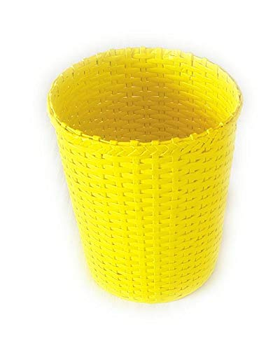 Eco Friendly NEW before Max 41% OFF selling ☆ Yellow Waste Basket Dustbin 11 10 ltrs Trashcan