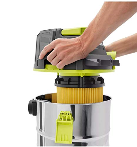 RYOBI 18V ONE+ Cordless 4.75 Gallon Wet/Dry Vacuum (Tool Only) with Hose, Crevice Tool, Floor Nozzle, and Extension Wands