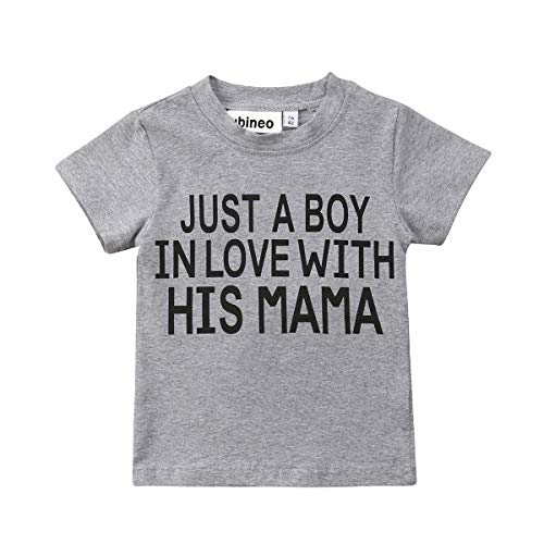 Mubineo Toddler Baby Girl Boy Funny Short Sleeve Cotton T Shirts Tops Tee Clothe (Boy/Mama, 2-3T)