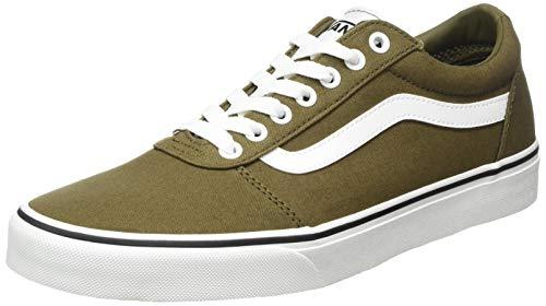 Vans Herren Ward Sneaker, Canvas Military Oliv Weiß, 45 EU