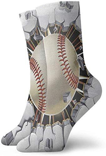 NA Honkbal oude gips beton muur schade nieuwigheid bemanning sokken atletische sokken kousen 30CM