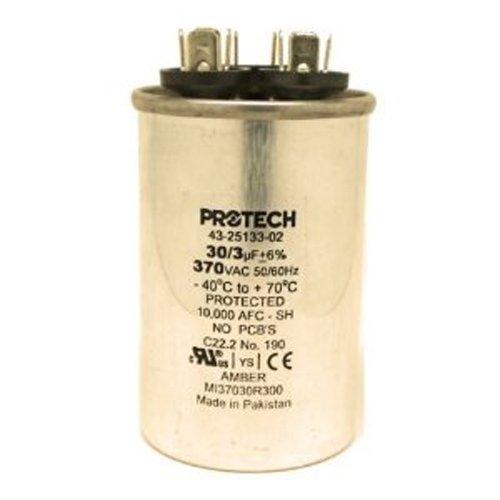 Rheem OEM Round Replacement Dual Run Capacitor 50 43-25133-27 10 UF//MFD 370 Volt