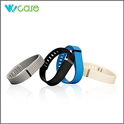 WoCase FlexBand Fitbit Accessory Wristband Bracelet Pack 3D Edition(2015 Lastest Verision)or Accessory Fastener Set or Fastener+Clasp Pack for Fitbit Flex Activity and Sleep Tracker (Retail Gift Ready Package)