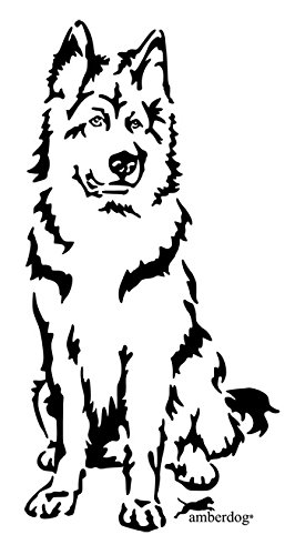 amberdog Altdeutscher Schäferhund Autoaufkleber Art.Nr.AT0189, Aufkleber (20x15cm, schwarz)