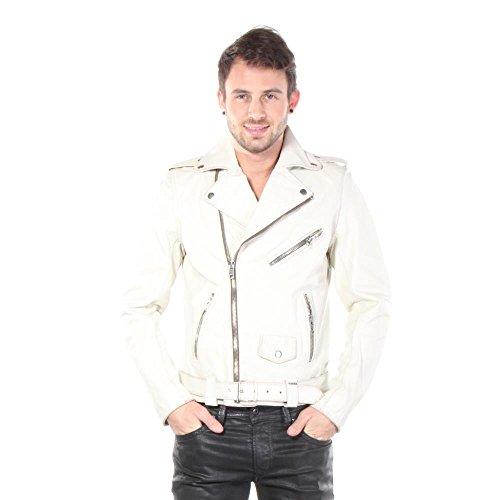 Diesel L-Umenirok 129 Herren Leather Jacket wei�