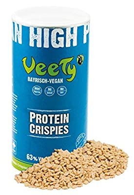 Veety - Vegan Pea Protein Crispies 63% - Soy and Sugar Free - Pea Wheat Protein Vegan Natural Made in Bavaria, 400g by Veety