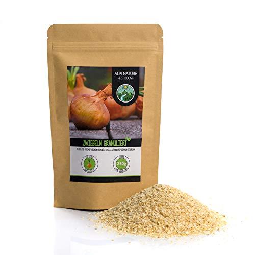 Zwiebel Granulat (250g), Zwiebeln granuliert, Zwiebel gemahlen, 100% naturrein aus schonend getrockneten Zwiebeln, natürlich ohne Zusätze, vegan, Zwiebelgranulat