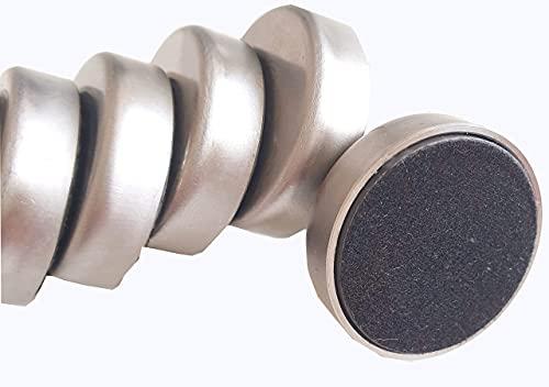 Edelstahlmagnete mit Filzunterseite, 27,6mm Durchmesser, 10 Stück - Whiteboardmagnet, Kühlschrankmagnet, Glastafelmagnet, Befestigungsmagnet