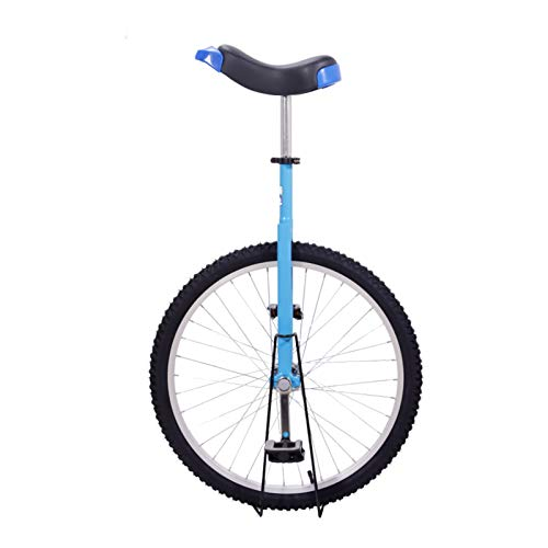 """Keyzea 24"""" Unicycle for Adults,Adjustable Outdoor Unicycle with Stand-Blue"""
