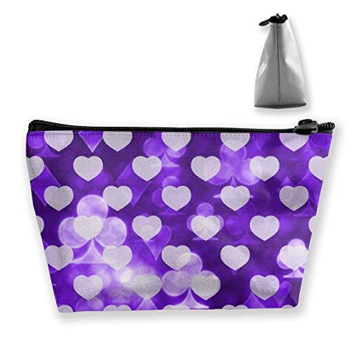 Spielkarten Glänzende Symbole Schminktasche Große trapezförmige Aufbewahrung Reisetasche Waschen Kosmetikbeutel Stifthalter Reißverschluss Wasserdicht