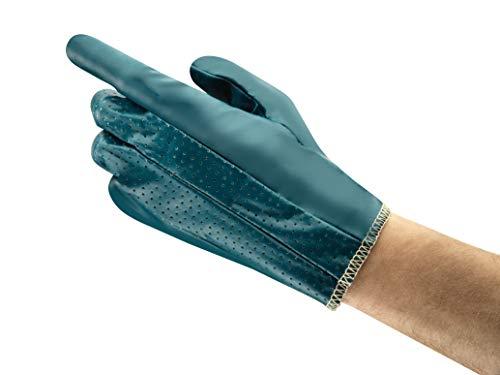 Ansell Hynit 32-800 Guanto Oleorepellente, Protezione Meccanica, Blu, Taglia 10 (12 Paia)