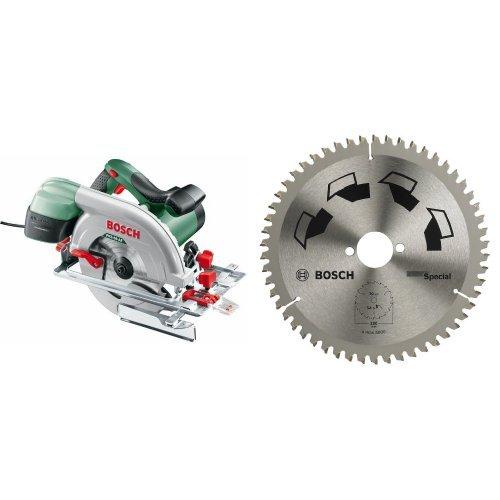 Bosch - PKS 66 AF - Sierra circular + 2 609 256 892 suministro de - Herramienta (190 mm, 2.5 mm, Acero inoxidable)