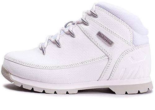 Timberland Unisex-Kinder Euro Sprint Klassische Stiefel, Weiß (White TecTuff), 40 EU