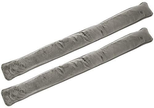 com-four® 2X Cojín para Puertas y Ventanas - Burlete Aislante - Protección contra Corrientes de Aire y Ruido - Cortavientos de Microfibra - 85 x 9 cm (02 Piezas - Topo)