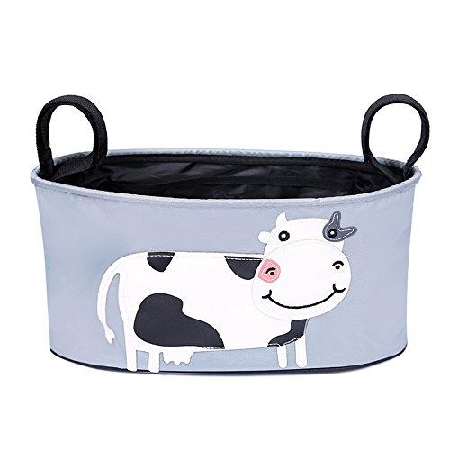 Newin Star Passeggino per Passeggino Sacchetto dell'organizzatore Sacchetto di Pannolini di qualità Premium Sacchetto di immagazzinaggio Appeso Adatto a Tutti i passeggini Cow (33 * 16cm) 1Pc