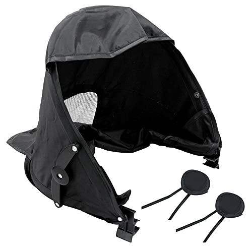Parasol universal para cochecito de bebé, para capazo o silla de paseo, herramienta de viaje para bebé, diseño de 3 velocidades, efecto de protección solar mejorado, 1 unidad, color negro