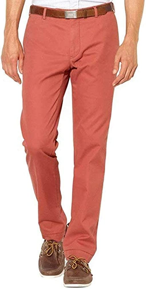 Ralph Lauren Classic Fit Chino Pants Flat Front 30x32 Red