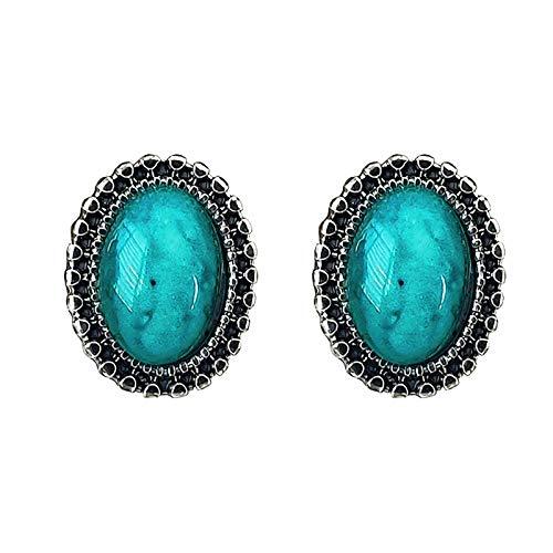 CHENYUXIA Retro y simple temperamento salvaje ovalado hermoso, lujoso y a la moda, pendientes personalizados, regalo para mujeres, joyas para mujer