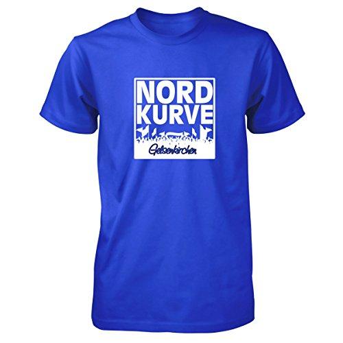 Shirtfun24 Herren NORDKURVE Gelsenkirchen Fans T-Shirt, royal blau, XXL